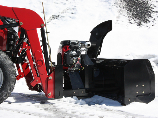 """48"""" Versatile Plus Snowblower for tractors equipped with """"Skid Steer"""" style attach"""