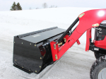 """Light Duty Snow Push for tractors equipped with """"Skid Steer"""" style attach"""